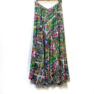 NWT [CUPIO] Floral Full Maxi Skirt Large